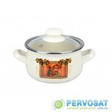 Каструля Ardesto Italian Gourmet, скляна кришка, 1.5 л, айворі, емальована