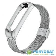 Ремешок для фитнес браслета BeCover Metal для Xiaomi Mi Smart Band 5 Silver (705147)