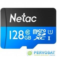 Карта памяти Netac 128GB microSDXC class 10 UHS-I P500 Standard (NT02P500STN-128G-R)