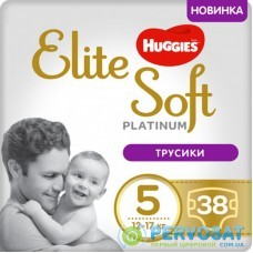 Подгузник Huggies Elite Soft Platinum Mega 5 (12-17 кг) 38 шт (5029053548838)
