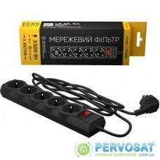 Сетевой фильтр питания LogicPower LP-X5 PREMIUM, 5m black (9585)