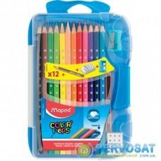 Карандаши цветные Maped Color Peps Smart Box в пластиковом футляре 12 цв. (MP.832032)