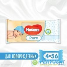 Влажные салфетки Huggies Pure 56 х 4 шт (5029053550121)