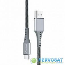 Дата кабель USB 2.0 AM to Type-C 1.2m Grey Grand-X (FC-12G)