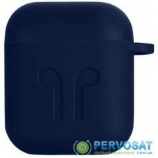 Чехол 2E для Apple AirPods Pure Color Silicone Imprint 1.5 мм Navy (2E-AIR-PODS-IBSI-1.5-NV)
