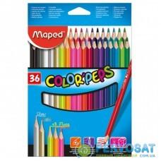 Карандаши цветные ZiBi Color Peps Classic 36 цв. (MP.832017)