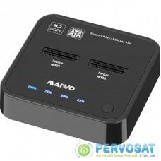 Док-станция Maiwo 2*SATA M.2 SSD Key B/B+M USB 3.1 Gen1 Type-C (K3016SG1)