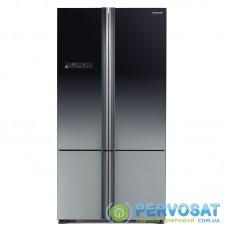 Холодильник с нижн. мороз. HITACHI R-WB800PUC5XGR, 184х81х91см, 4 дв., Х- 466л, М- 174л, A++, NF, Інвертор, Градація сірого (скл