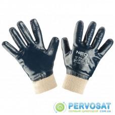 Защитные перчатки Neo Tools рабочие, хлопок с полным нитриловым покрытием, p. 9 (97-630-9)