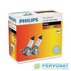 Автолампа PHILIPS H7 Vision, 3200K, 2шт (12972PRC2)