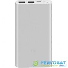 Батарея универсальная Xiaomi Mi 3 NEW Power bank 10000mAh QC2.0 in/out, PLM13ZM, Silver (VXN4259CN / 575608)