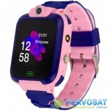 Смарт-часы Discovery iQ4900 Camera LED Light Pink Детские смарт часы-телефон трек (iQ4900 Pink)