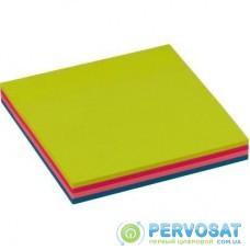 Бумага для заметок BUROMAX with adhesive layer 76х76мм, 100sheets, NEON colors mix (BM.2312-97)