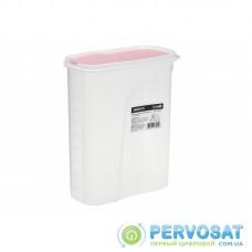 Контейнер для сипучих Ardesto Fresh 2.5 л, рожевий, пластик