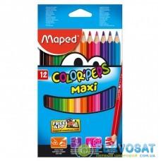 Карандаши цветные ZiBi Color Peps Maxi 12 цв. (MP.834010)