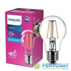 Лампа светодиодная PhilipsLEDClassic 6-60W A60 E27 865 CL NDAPR