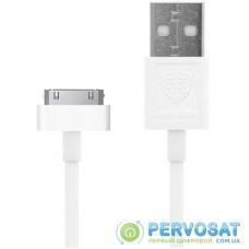 Дата кабель USB 2.0 AM to Apple 30pin 1.0m CK-13 White INKAX (F_62154)