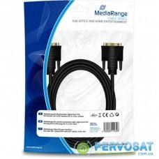Кабель мультимедийный DVI to DVI 24+1pin, 3.0m Mediarange (MRCS130)