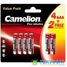 Батарейка Camelion AAA LR03 Plus Alkaline * (4+2) (LR03-BP(4+2))