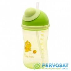 Поильник-непроливайка Baby Team с силиконовой трубочкой, 380 мл 9+ (5010_зеленый)