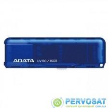 USB флеш накопитель ADATA 16GB UV110 Blue USB 2.0 (AUV110-16G-RBL)
