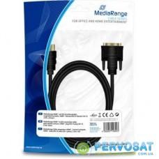 Кабель мультимедийный HDMI to DVI 24+1 2.0m MediaRange (MRCS118)