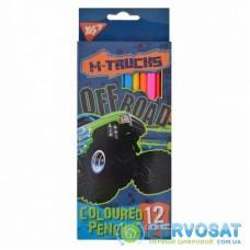 Карандаши цветные Yes M-Trucks 12 цветов (290527)