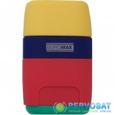 Точилка BUROMAX RUBBER TOUCH /large, container, eraser (BM.4771-1)