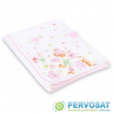 Детское одеяло Bibaby с нежными цветочками (64175-pink)