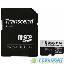 Карта памяти Transcend 64GB microSDXC class 10 UHS-I U1 High Endurance (TS64GUSD350V)