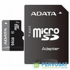 Карта памяти ADATA 64GB microSD class 10 UHS-I (AUSDX64GUICL10-RA1)