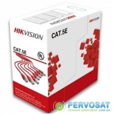 Кабель сетевой HikVision UTP 305м cat.5e, CU, 4*2*0,5мм (DS-1LN5E-S)
