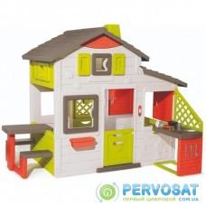 Игровой домик Smoby с летней кухней дверным звонком и столиком (810202)