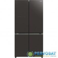 Холодильник с нижн. мороз. HITACHI R-WB720VUC0GMG, 184х72х90см, 4 дв., Х- 372л, М- 196л, A+, NF, Інвертор, Сірий (скло)