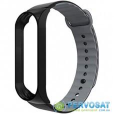 Ремешок для фитнес браслета Armorstandart Sport Silicone Band для Xiaomi Mi Band 3 Black/Grey (ARM54514)