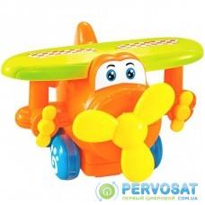 Развивающая игрушка BeBeLino Инерционный самолетик (оранжевый) (58153-2)