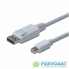 Кабель мультимедийный miniDisplayPort to DisplayPort 1.0m Digitus (AK-340102-010-W)