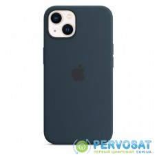 Чехол для моб. телефона Apple iPhone 13 Silicone Case with MagSafe Abyss Blue, Model A270 (MM293ZE/A)