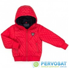 Куртка Verscon стеганая с капюшоном (3439-110B-red)