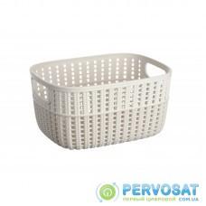 Корзинка плетена Ardesto Sweet Home, 3л, 235*176*120 мм, сірий беж, пластик