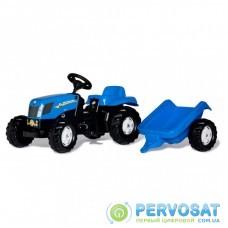 Веломобиль Rolly Toys Трактор с прицепом rollyKid NEW HOLLAND Синий (013074)