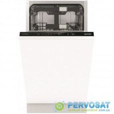 Вбудована посудом. машина Gorenje GV572D10/інверторна/45 см./ 11 компл./3 кошики/5 прогр./повн.AquaStop/сенсорн.упр/А+++