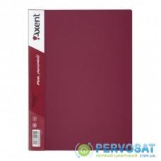 Папка с файлами Axent 40 sheet protectors, burgundy (1040-04-А)