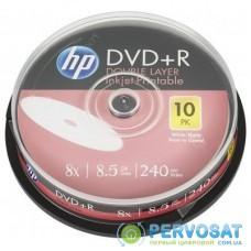 Диск DVD HP DVD+R 8.5GB 8X DL IJ PRINT 10шт Spindle (69306/DRE00060WIP-3)