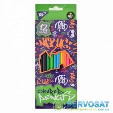 Карандаши цветные Yes Smiley World Pattern 12 цветов (290529)