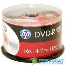 Диск DVD HP DVD-R 4.7GB 16X 50 шт Spindle (69316/DME00025-3)