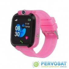 Смарт-часы Amigo GO007 FLEXI GPS Pink