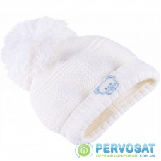 Шапочка Luvena Fortuna теплая для девочек с помпоном (G8528 F)