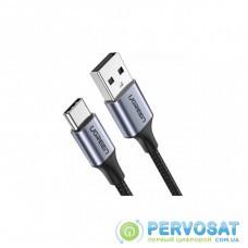 Дата кабель USB 2.0 AM to Type-C 1.5m US176 Both Angled 3A (Black) Ugreen (60783)