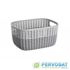 Корзинка плетена Ardesto Sweet Home, 3л, 235*176*120 мм, сірий, пластик